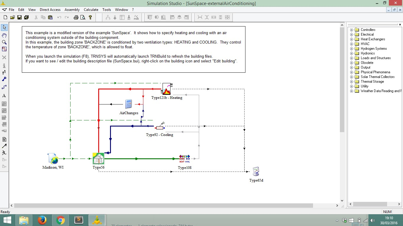 Trnsys 18 Energy System Simulation Aiguasol Software Is Very Useful When Simulating This Type Of Circuit Diagram